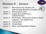 division d sectors