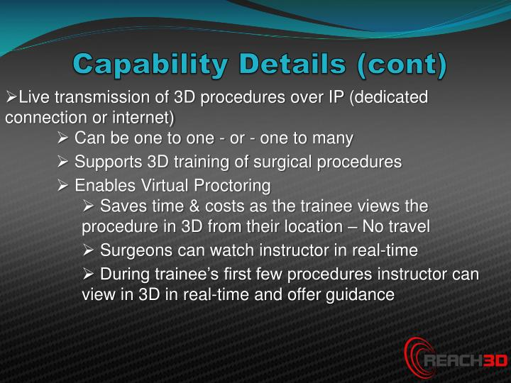Capability Details (cont)