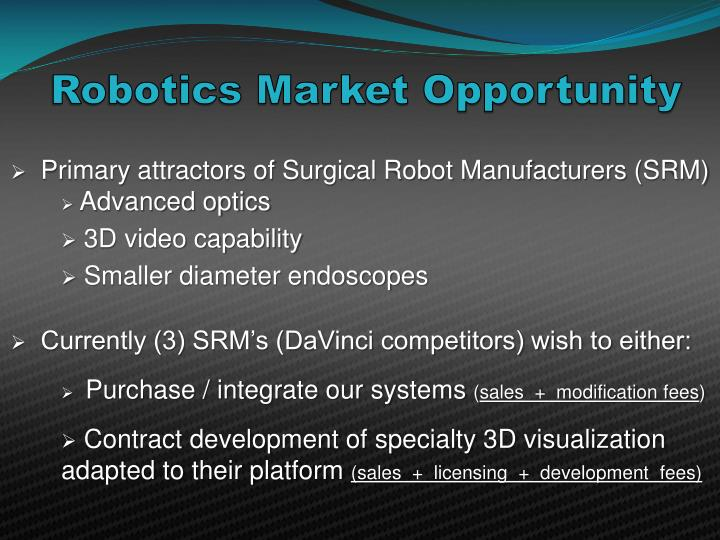 Robotics Market Opportunity