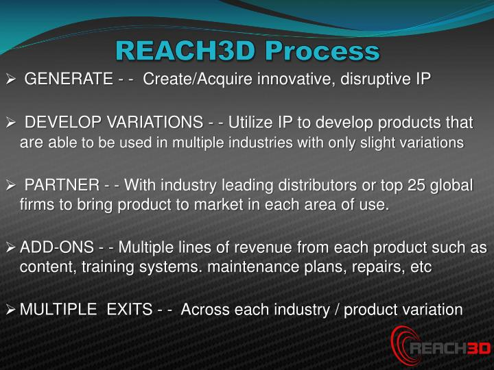 REACH3D Process