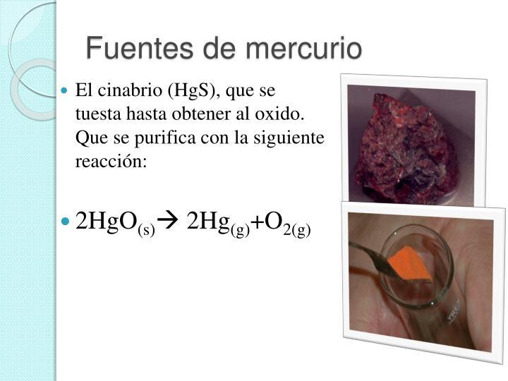 Fuentes de mercurio