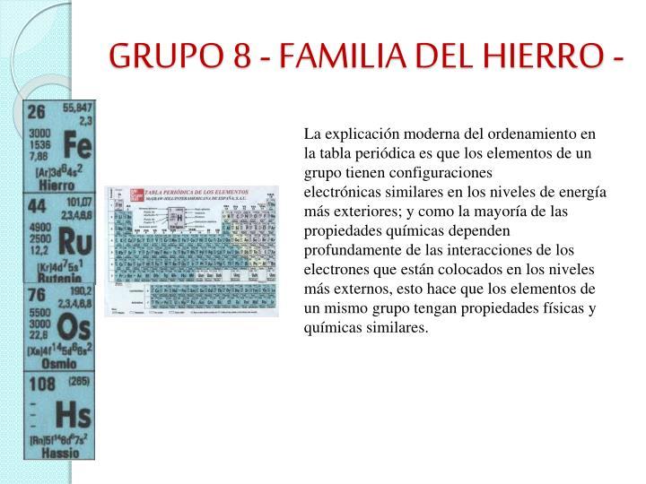 GRUPO 8 - FAMILIA DEL HIERRO -
