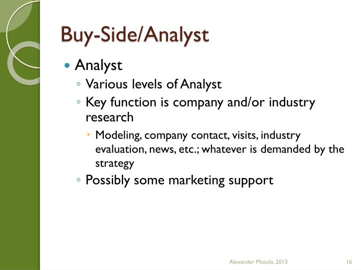 Buy-Side/Analyst