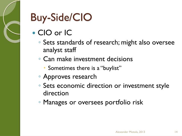 Buy-Side/CIO