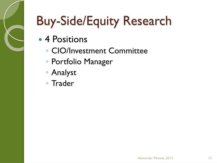 Buy-Side/Equity Research