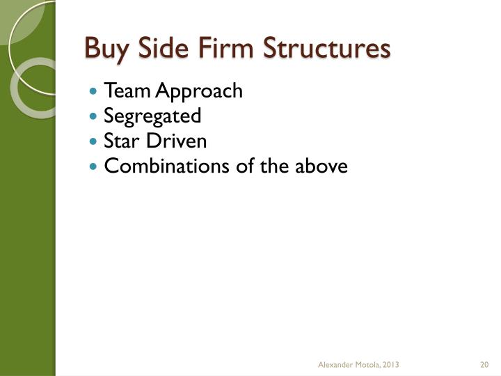 Buy Side Firm Structures
