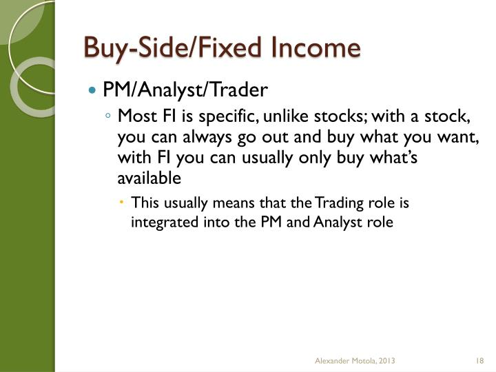 Buy-Side/Fixed Income