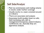 sell side analyst