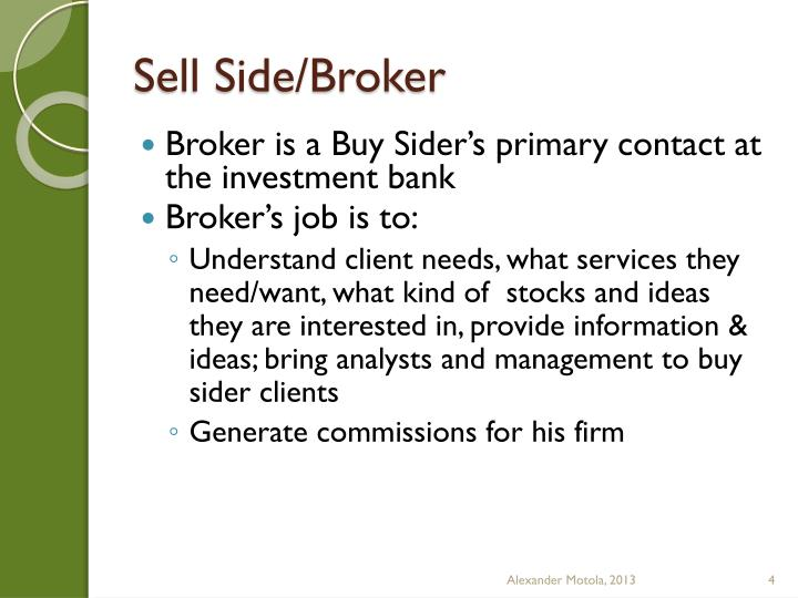 Sell Side/Broker
