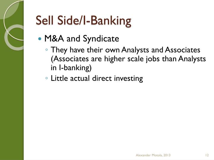 Sell Side/I-Banking