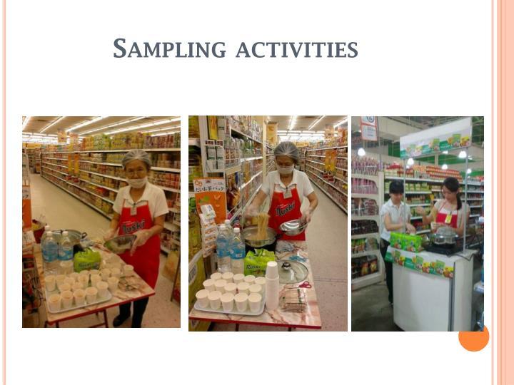Sampling activities
