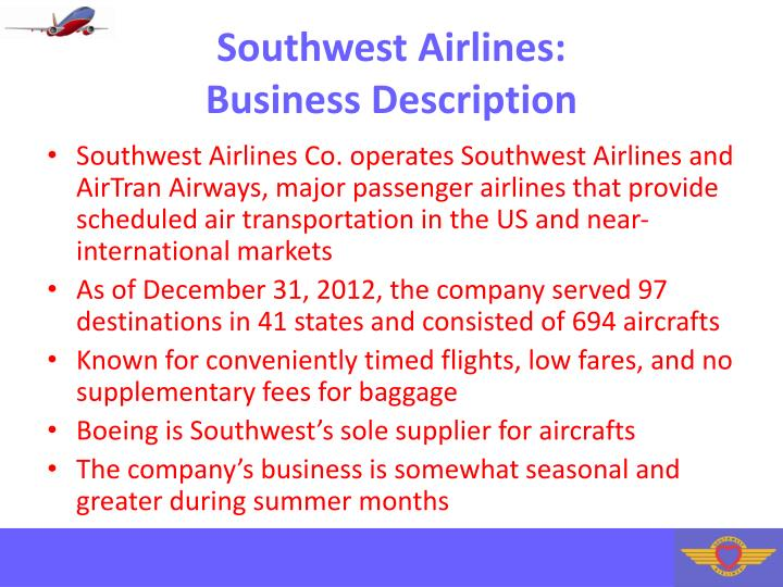 Southwest airlines business description