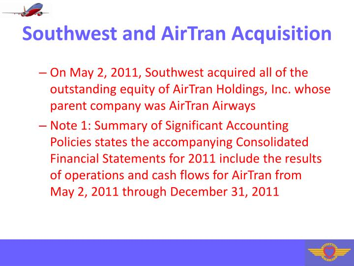 Southwest and AirTran Acquisition