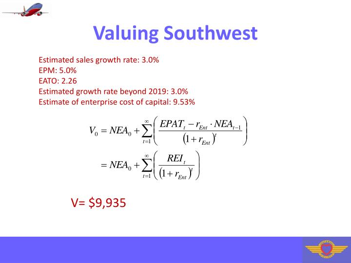 Valuing Southwest
