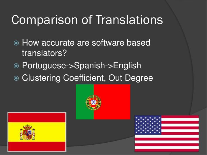 Comparison of Translations