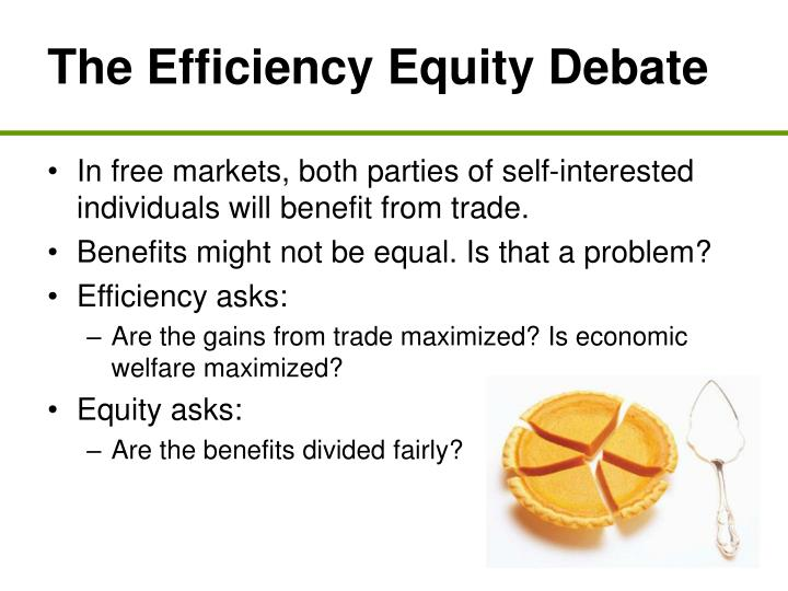 The Efficiency Equity Debate