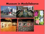 museum in medzilaborce