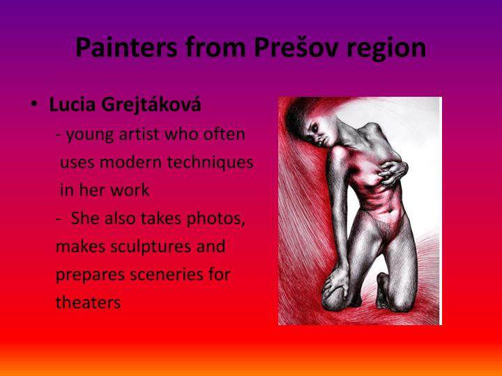 Painters from pre ov region