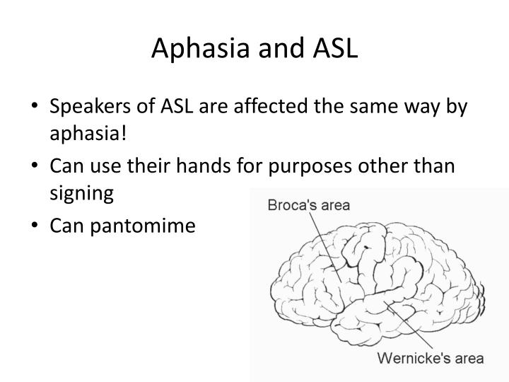 Aphasia and ASL