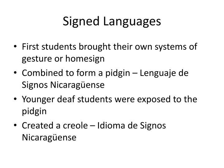 Signed Languages