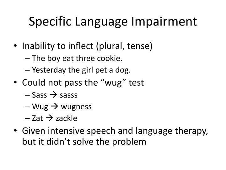 Specific Language Impairment