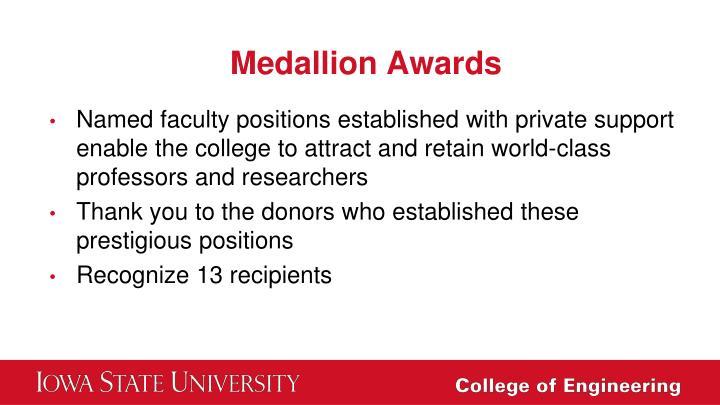 Medallion Awards