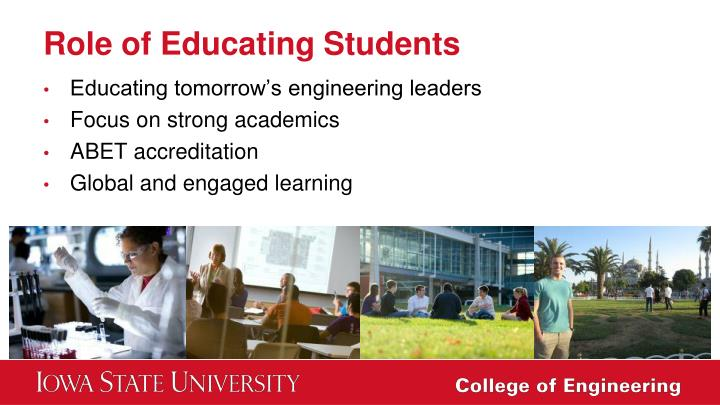 Role of Educating Students