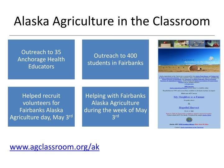 Alaska Agriculture in the Classroom