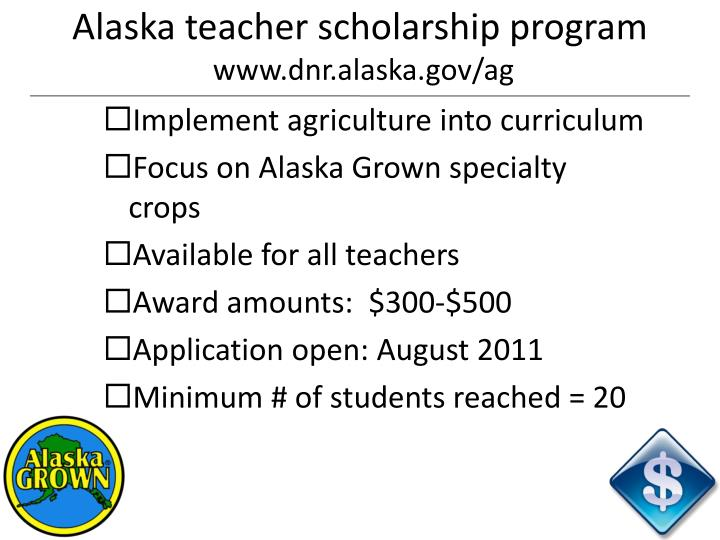 Alaska teacher scholarship program