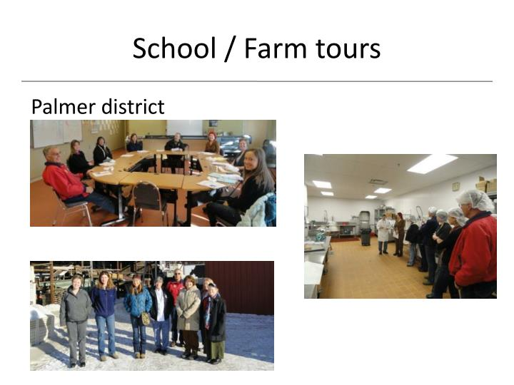 School / Farm tours