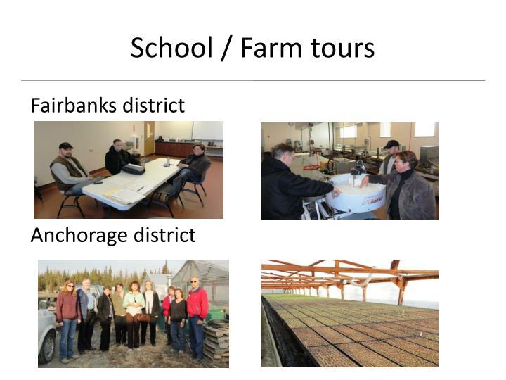 School / Farm tours
