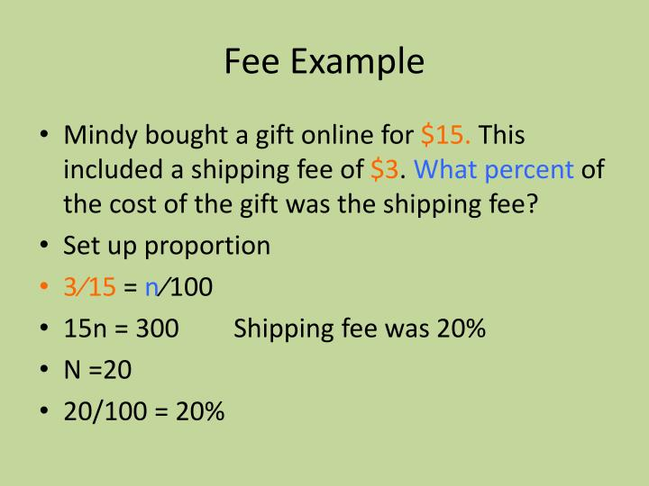 Fee Example