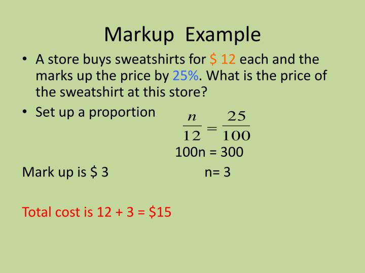 Markup  Example