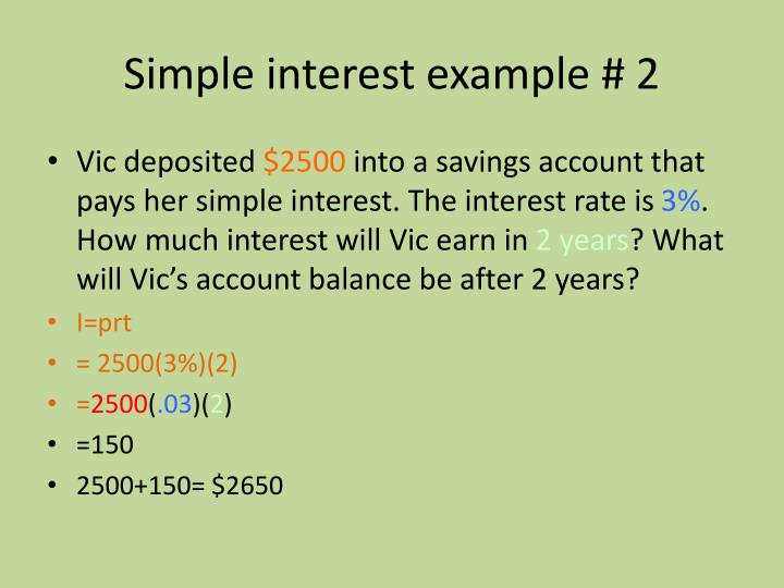 Simple interest example # 2