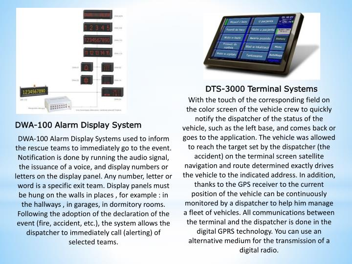 DTS-3000 Terminal Systems