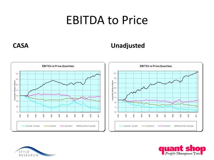 EBITDA to Price