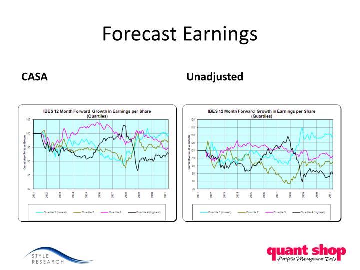 Forecast Earnings