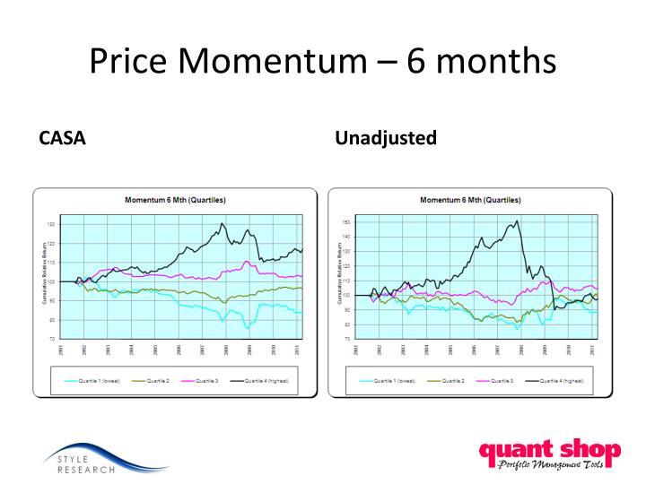Price Momentum – 6 months