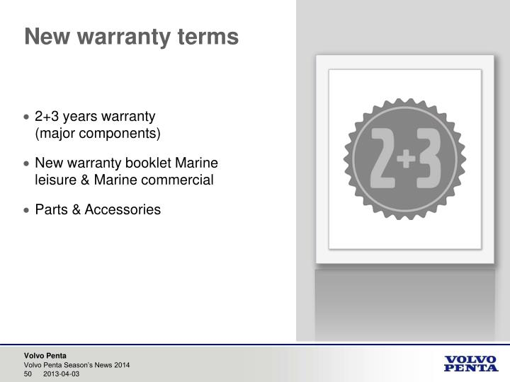 New warranty terms