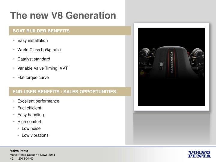 The new V8 Generation