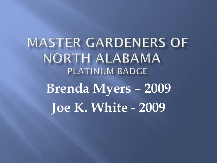 Master Gardeners of north