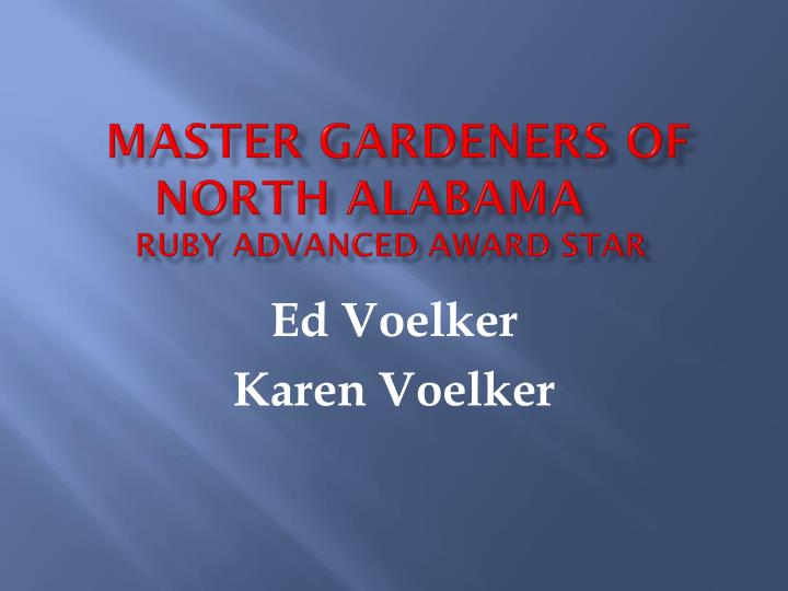 Master Gardeners of North Alabama