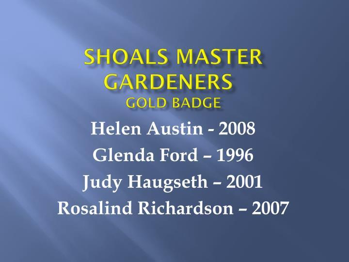 Shoals Master Gardeners