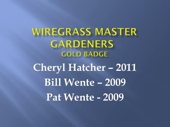 Wiregrass Master Gardeners