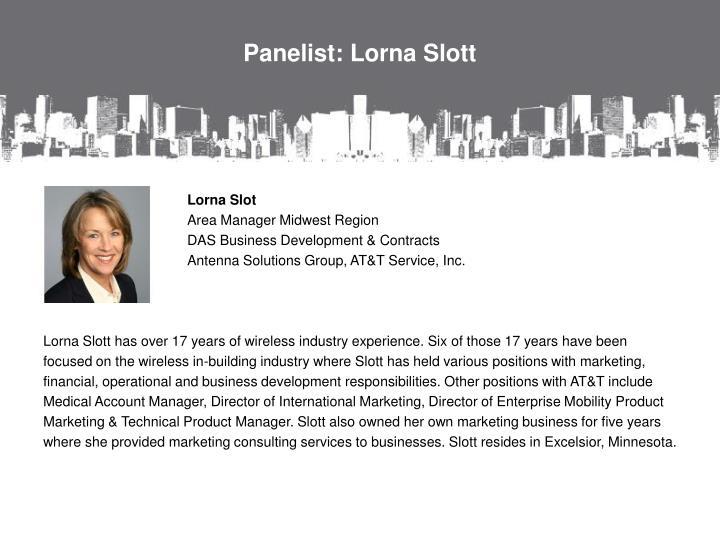 Panelist: Lorna
