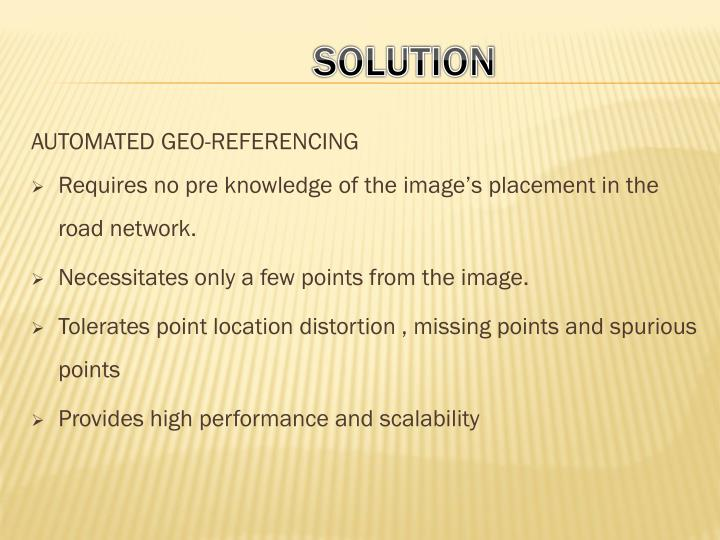 AUTOMATED GEO-REFERENCING