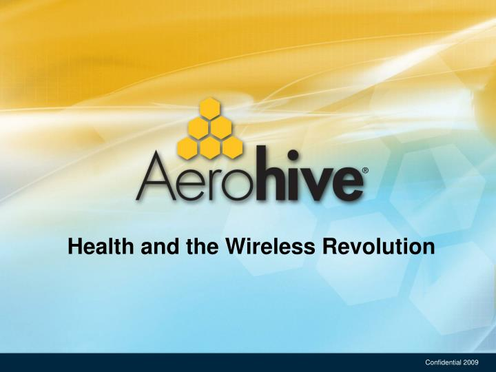 Health and the wireless revolution