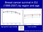 breast cancer survival in eu 1999 2007 by region and age