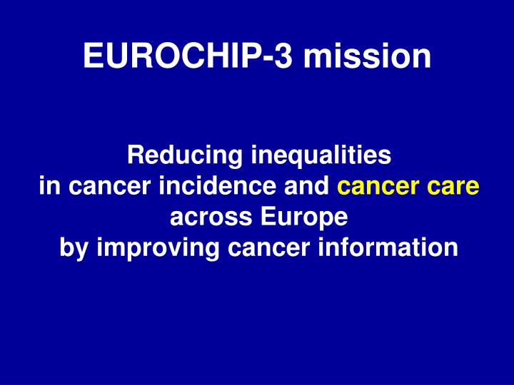 EUROCHIP-3 mission