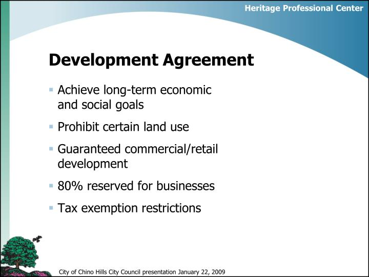Development agreement1
